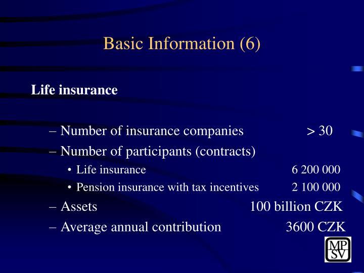 Basic Information (6)