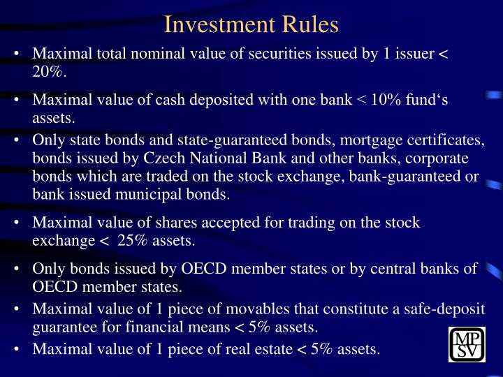 Investment Rules