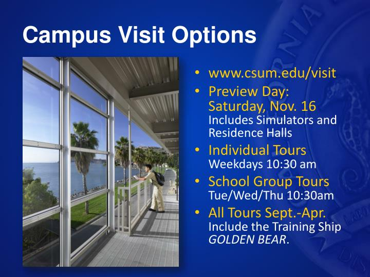 Campus Visit Options