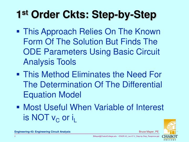 1 st order ckts step by step
