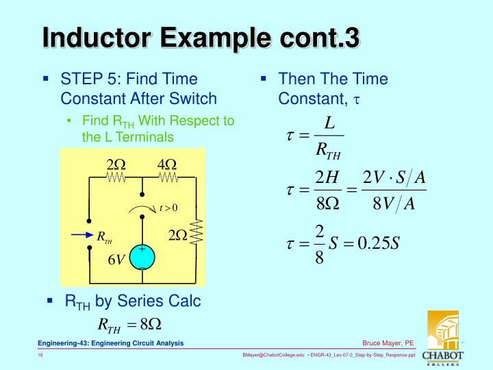 STEP 5: Find Time Constant After Switch