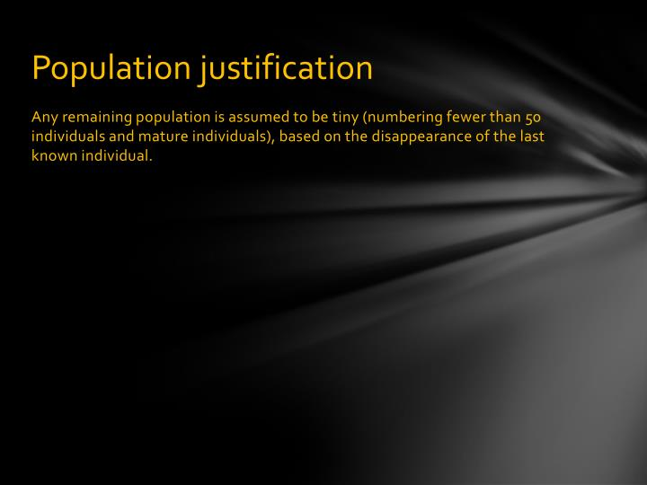 Population justification