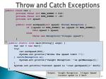 throw and catch exceptions1