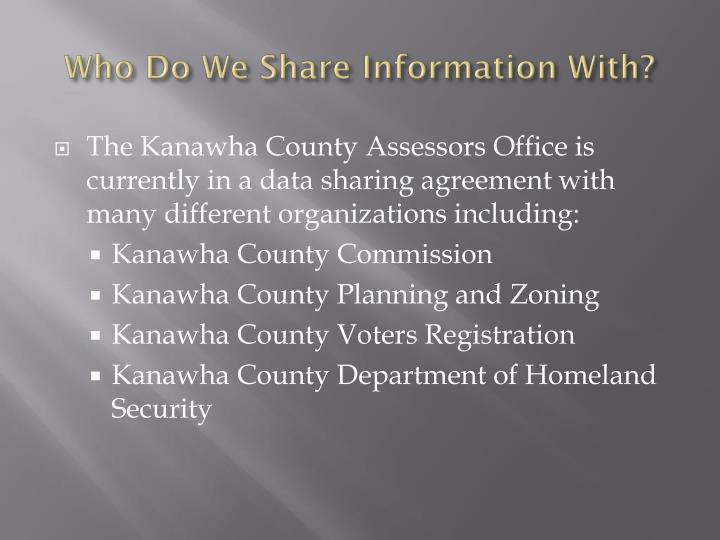 Who Do We Share Information With?