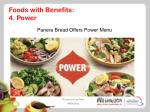 foods with benefits 4 power