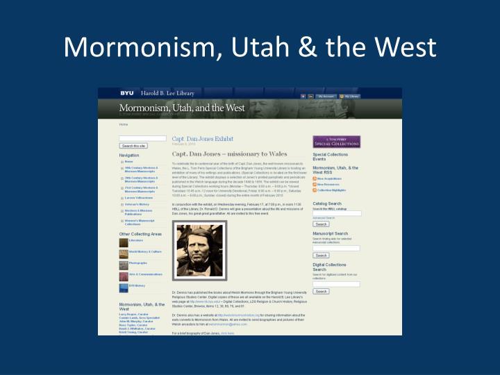 Mormonism utah the west