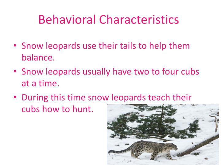 Behavioral characteristics