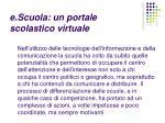 e scuola un portale scolastico virtuale