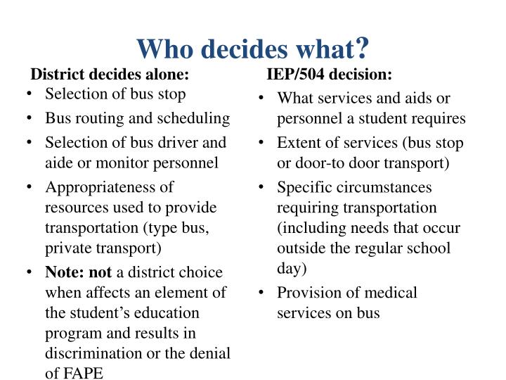 Who decides what