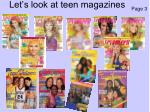 let s look at teen magazines