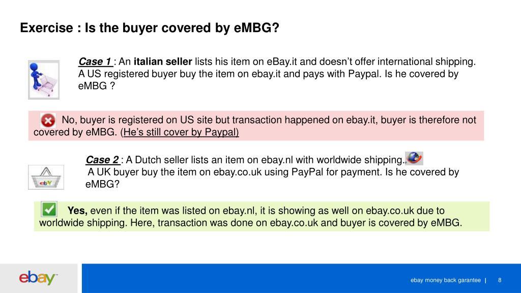 PPT - eMBG : ebay money back garantee PowerPoint