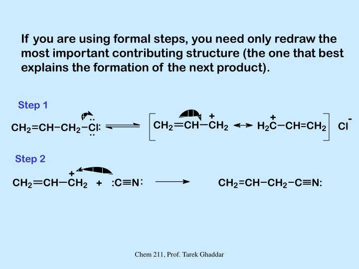 If you are using formal steps, you need only redraw the