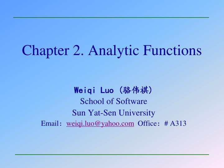 chapter 2 analytic functions n.