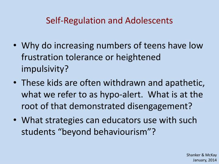 Self-Regulation and Adolescents