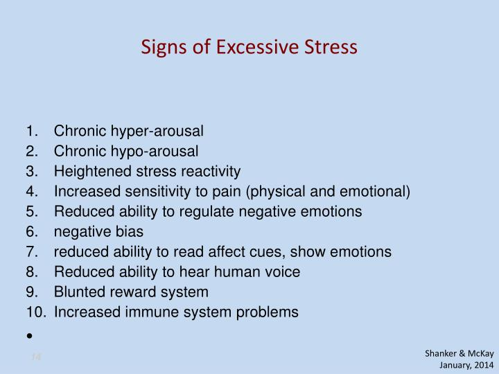 Signs of Excessive Stress