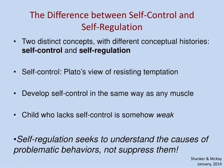 The Difference between Self-Control and