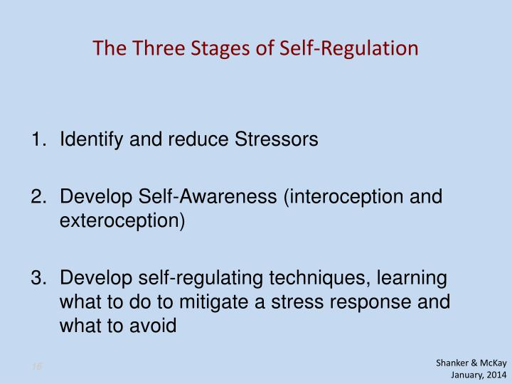 The Three Stages of Self-Regulation