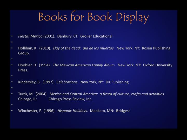 Books for Book Display