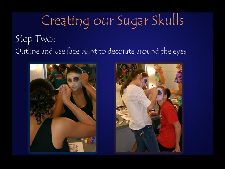 Creating our Sugar Skulls