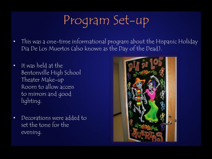 Program set up