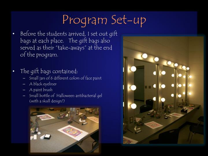 Program Set-up