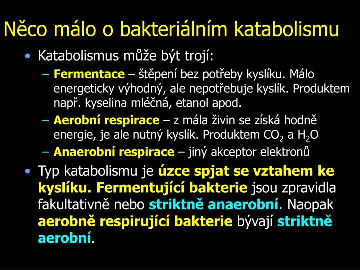 Něco málo o bakteriálním katabolismu