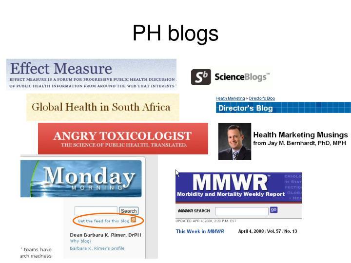 PH blogs