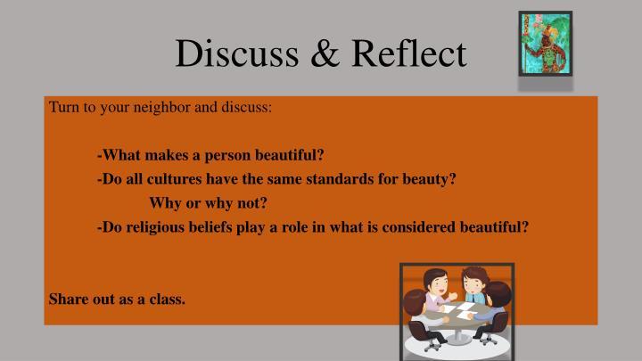Discuss reflect