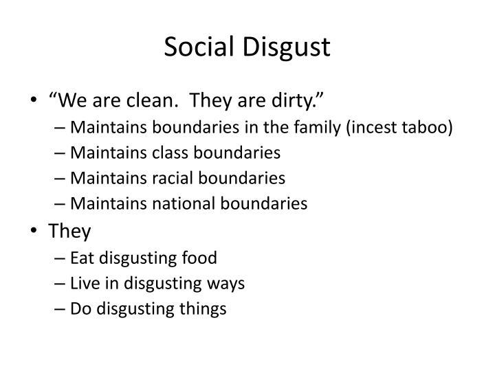 Social Disgust