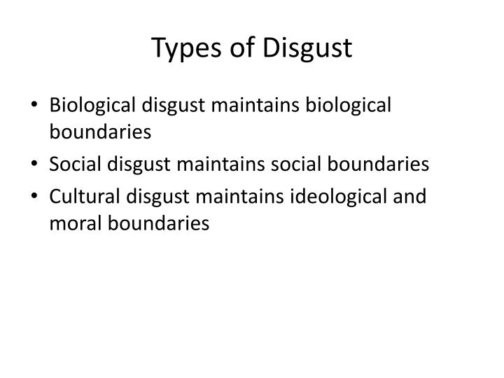 Types of Disgust