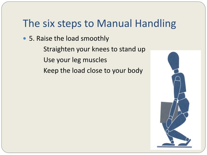 The six steps to Manual Handling