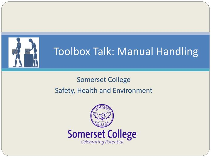 ppt - toolbox talk: manual handling powerpoint presentation - id, Presentation templates
