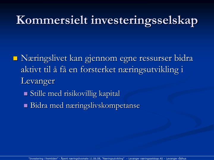 Kommersielt investeringsselskap
