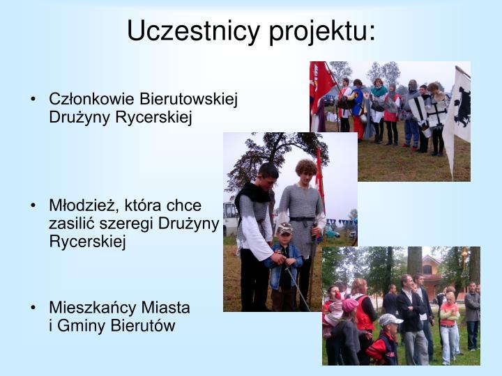 Uczestnicy projektu: