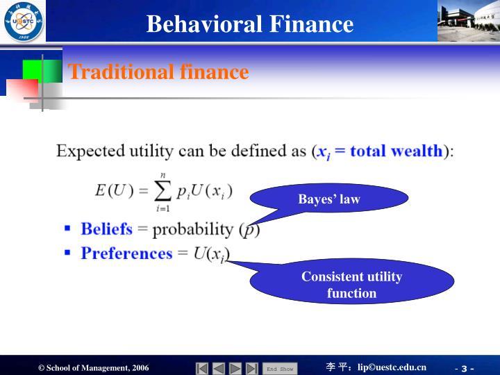 Traditional finance1