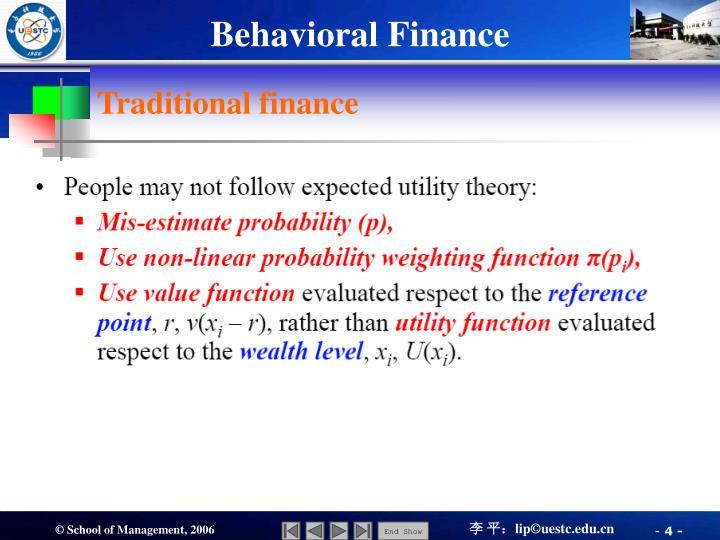 Traditional finance