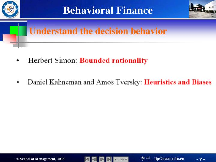 Understand the decision behavior