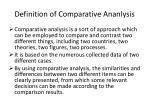 definition of comparative ananlysis
