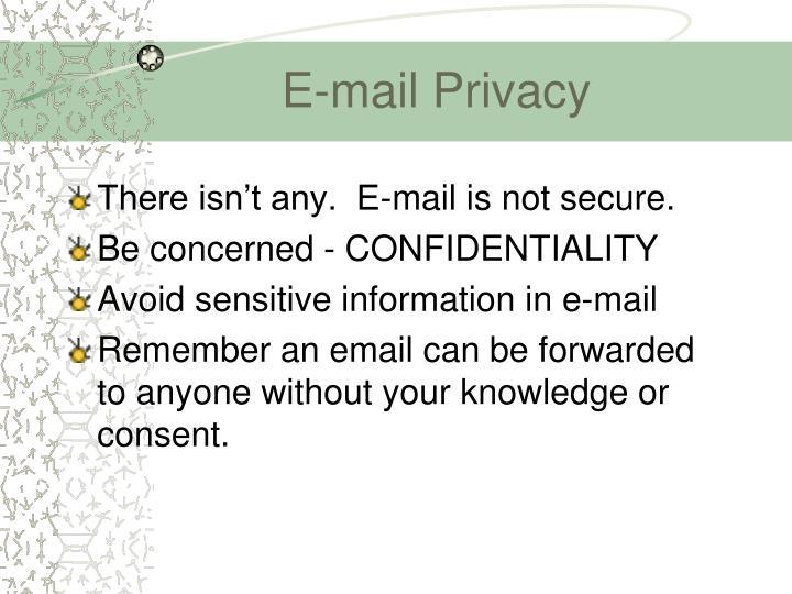 E-mail Privacy