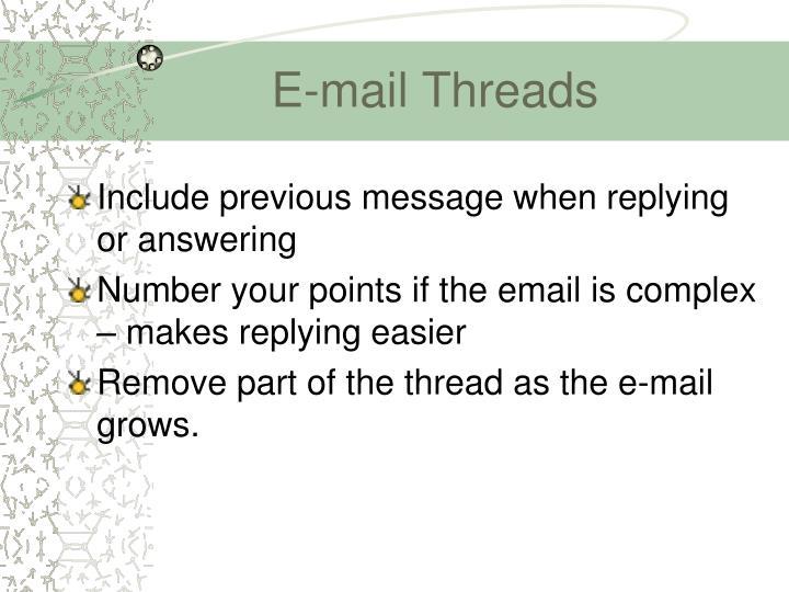 E-mail Threads