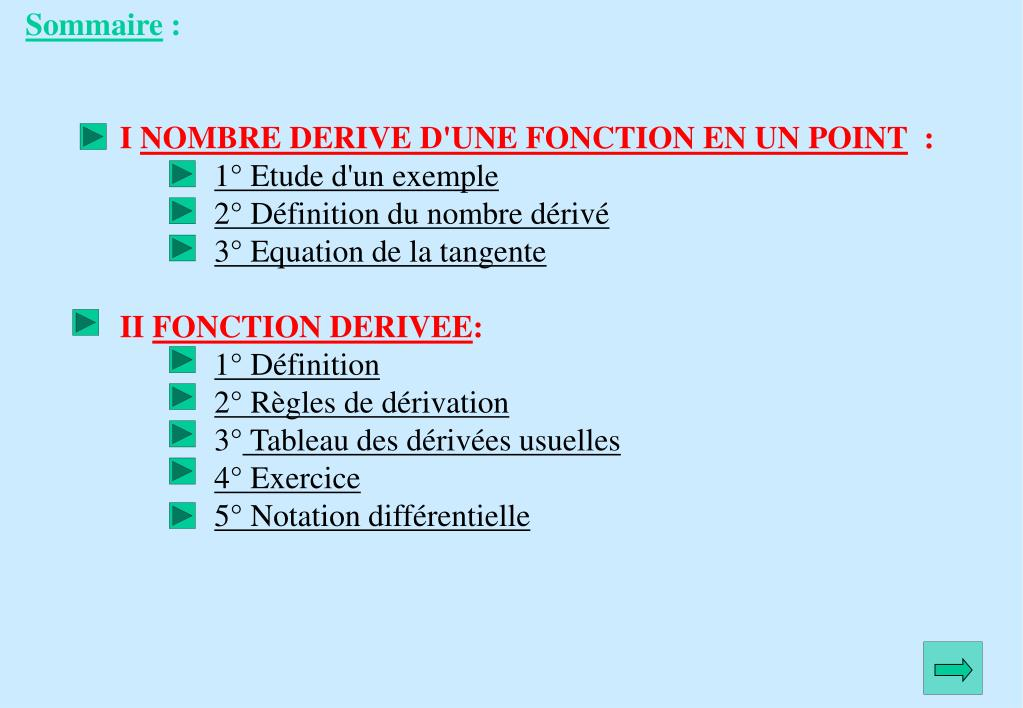 Ppt Fonction Derivee Powerpoint Presentation Free Download Id 5260513