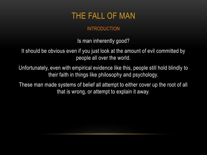 The fall of man1