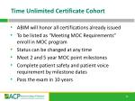 time unlimited certificate cohort