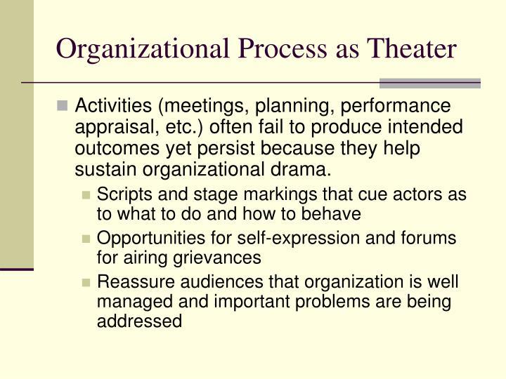 Organizational Process as Theater