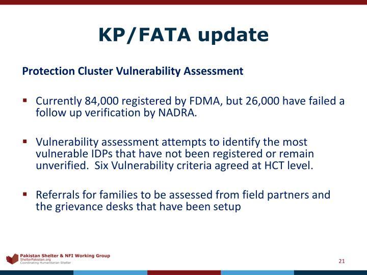 KP/FATA update