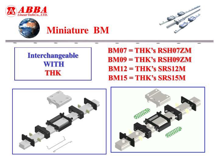 BM07 = THK's RSH07ZM