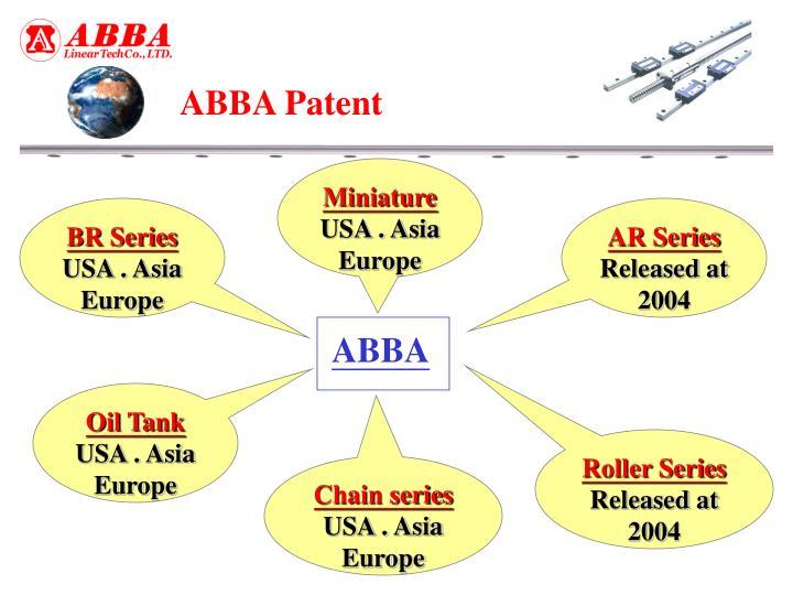 ABBA Patent