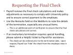 requesting the final check1