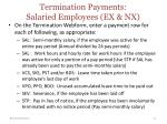 termination payments salaried employees ex nx