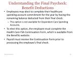 understanding the final paycheck benefit deductions1